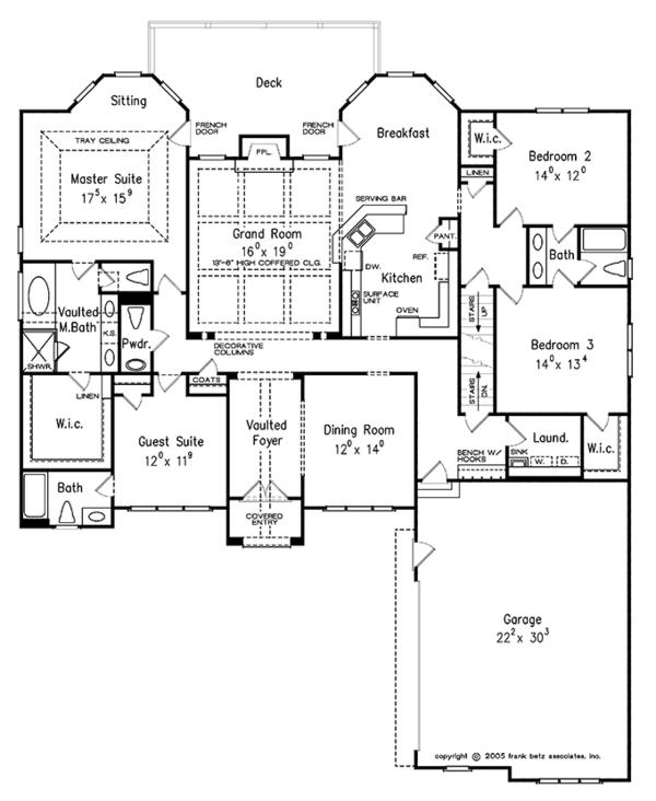 Traditional Floor Plan - Main Floor Plan Plan #927-324