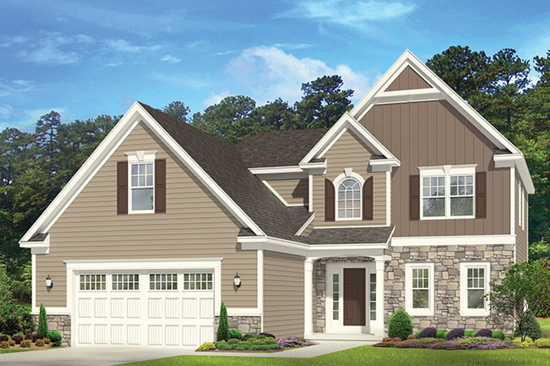 Traditional Exterior - Front Elevation Plan #1010-149 - Houseplans.com