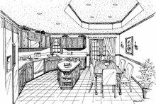 Country Interior - Kitchen Plan #314-207