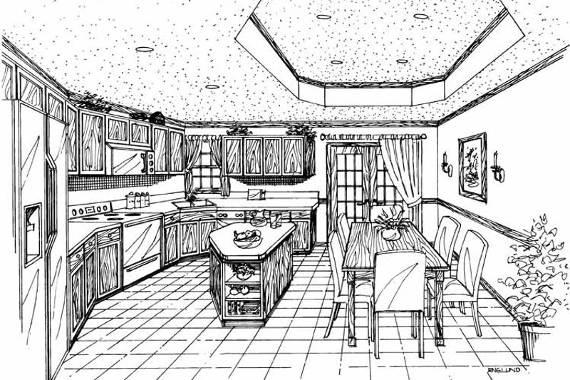 Country Interior - Kitchen Plan #314-207 - Houseplans.com