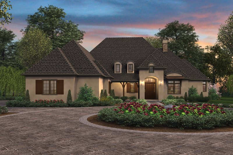 Architectural House Design - Country Exterior - Front Elevation Plan #48-898