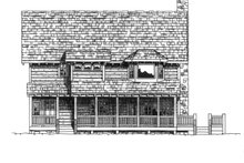 Log Exterior - Rear Elevation Plan #942-18