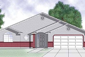 Traditional Exterior - Front Elevation Plan #945-3