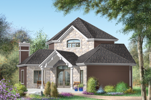 Country Exterior - Front Elevation Plan #25-4743