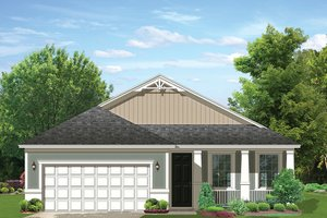 Ranch Exterior - Front Elevation Plan #1058-106