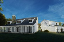 Home Plan - Country Exterior - Rear Elevation Plan #923-200