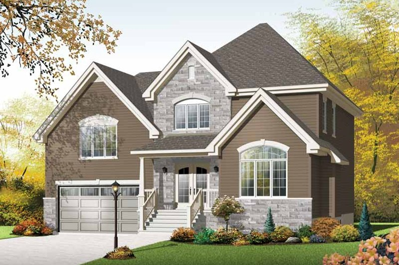 Country Exterior - Front Elevation Plan #23-2543