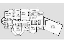 Country Floor Plan - Main Floor Plan Plan #303-472