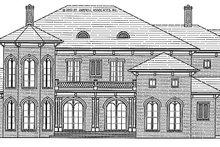 Dream House Plan - Mediterranean Exterior - Front Elevation Plan #54-284
