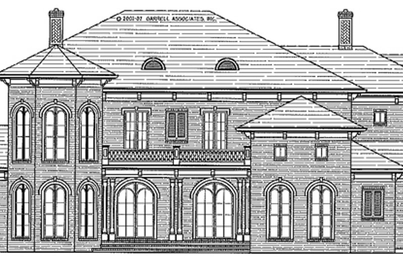 Mediterranean Exterior - Front Elevation Plan #54-284 - Houseplans.com