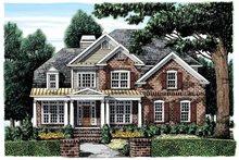 Classical Exterior - Front Elevation Plan #927-880
