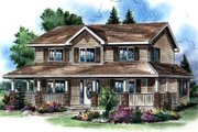 Traditional Style House Plan - 4 Beds 2.5 Baths 1779 Sq/Ft Plan #18-285 Exterior - Front Elevation