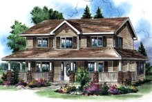 Home Plan - Traditional Exterior - Front Elevation Plan #18-285