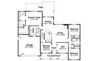 Country Style House Plan - 3 Beds 2 Baths 2151 Sq/Ft Plan #124-1015 Floor Plan - Main Floor Plan