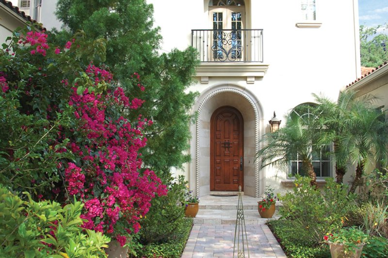 Mediterranean Exterior - Front Elevation Plan #1058-14 - Houseplans.com