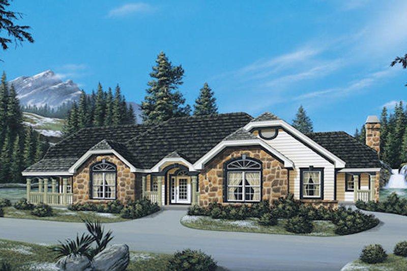 Dream House Plan - European Exterior - Front Elevation Plan #57-272