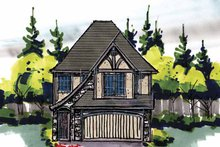Home Plan - Tudor Exterior - Front Elevation Plan #509-210