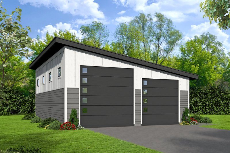 Dream House Plan - Contemporary Exterior - Front Elevation Plan #932-109