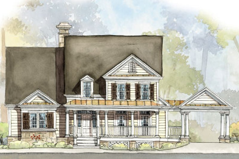 Country Exterior - Front Elevation Plan #429-46 - Houseplans.com