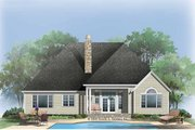 Craftsman Style House Plan - 4 Beds 3 Baths 2695 Sq/Ft Plan #929-777 Exterior - Rear Elevation
