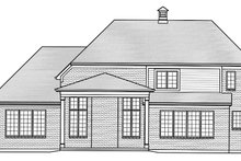 Home Plan - Traditional Exterior - Rear Elevation Plan #46-863
