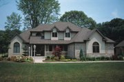 Traditional Style House Plan - 4 Beds 2.5 Baths 2562 Sq/Ft Plan #20-2006 Exterior - Front Elevation