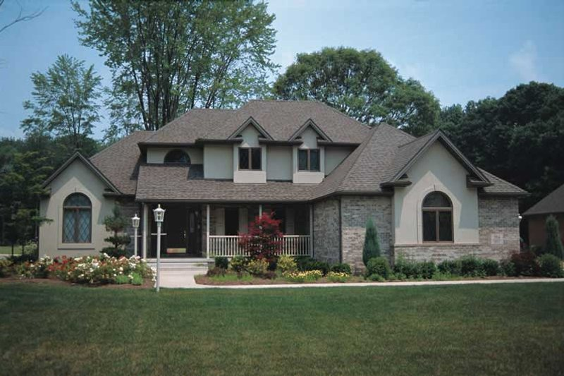 Architectural House Design - Traditional Exterior - Front Elevation Plan #20-2006