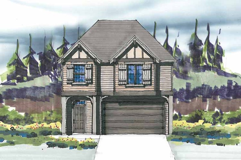 Prairie Exterior - Front Elevation Plan #509-298