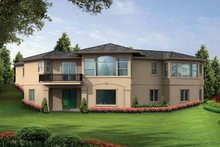 Dream House Plan - Mediterranean Exterior - Rear Elevation Plan #132-279