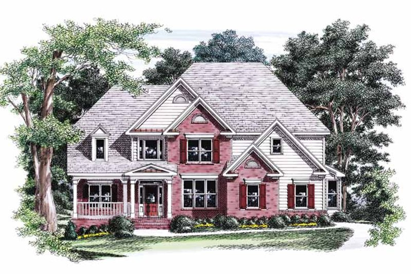 Colonial Exterior - Front Elevation Plan #927-558