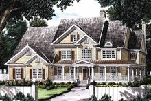 Colonial Exterior - Front Elevation Plan #927-174