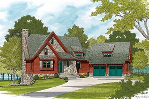 Home Plan - European Exterior - Front Elevation Plan #453-635