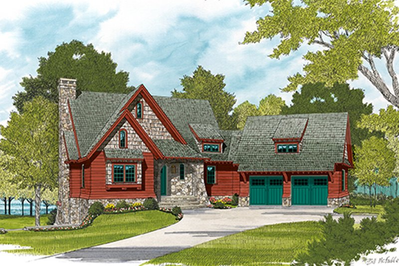 House Plan Design - European Exterior - Front Elevation Plan #453-635