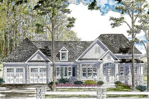 Dream House Plan - Ranch Exterior - Front Elevation Plan #316-288