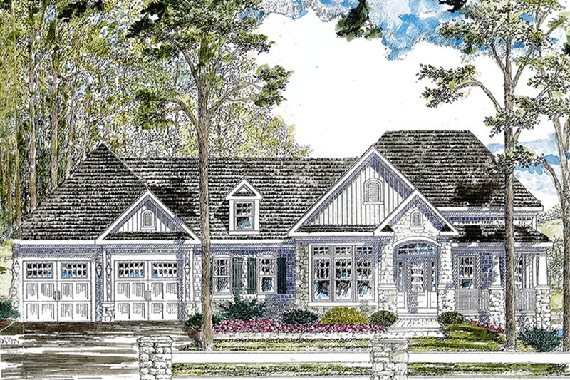 House Plan Design - Ranch Exterior - Front Elevation Plan #316-288