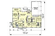 Craftsman Style House Plan - 4 Beds 3.5 Baths 2818 Sq/Ft Plan #44-186 Floor Plan - Main Floor