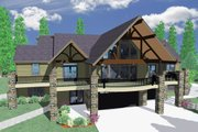 Contemporary Style House Plan - 4 Beds 4 Baths 3475 Sq/Ft Plan #509-15 Exterior - Other Elevation