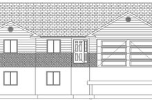 Ranch Exterior - Front Elevation Plan #1060-36