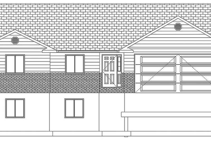 Ranch Exterior - Front Elevation Plan #1060-36 - Houseplans.com