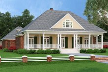 Ranch Exterior - Front Elevation Plan #45-574