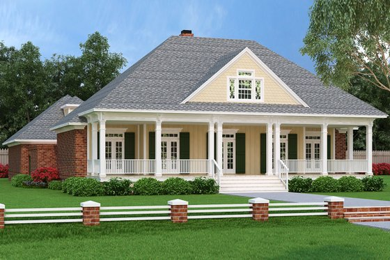 Dream House Plan - Ranch Exterior - Front Elevation Plan #45-574