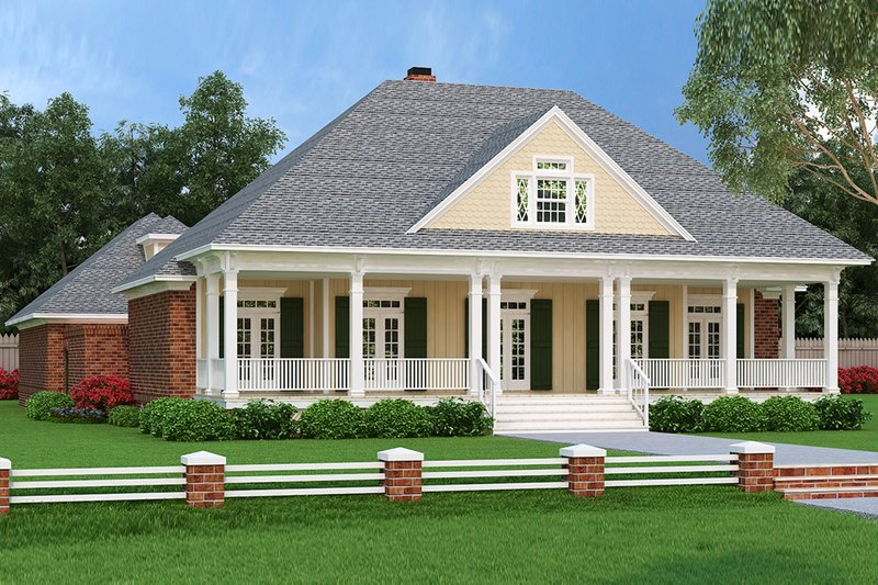 Architectural House Design - Ranch Exterior - Front Elevation Plan #45-574