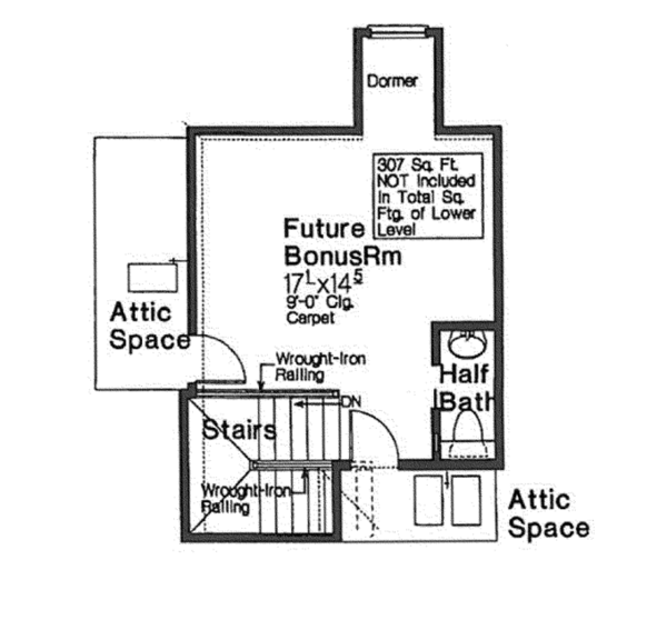 European Floor Plan - Other Floor Plan Plan #310-1266