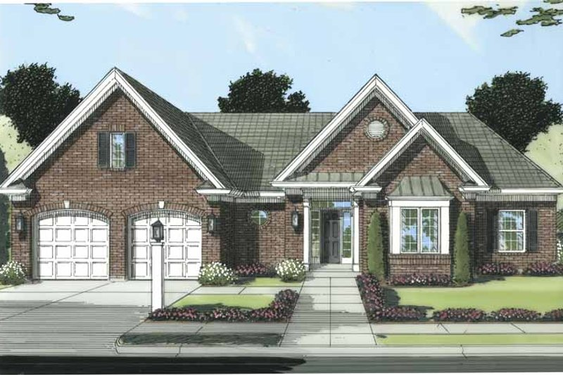Traditional Exterior - Front Elevation Plan #46-799 - Houseplans.com