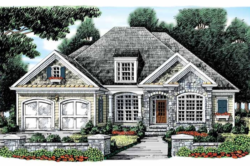 Country Exterior - Front Elevation Plan #927-871