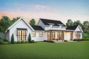 Farmhouse Style House Plan - 3 Beds 2.5 Baths 2060 Sq/Ft Plan #48-968 Exterior - Rear Elevation