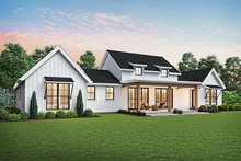 House Plan Design - Farmhouse Exterior - Rear Elevation Plan #48-968