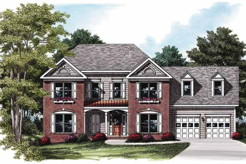 Colonial Exterior - Front Elevation Plan #927-753
