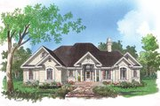Mediterranean Style House Plan - 3 Beds 2 Baths 1782 Sq/Ft Plan #929-291 Exterior - Front Elevation