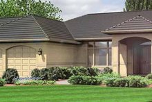Dream House Plan - Mediterranean Exterior - Front Elevation Plan #966-11